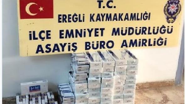 Ereğlide 640 paket kaçak sigara ele geçirildi