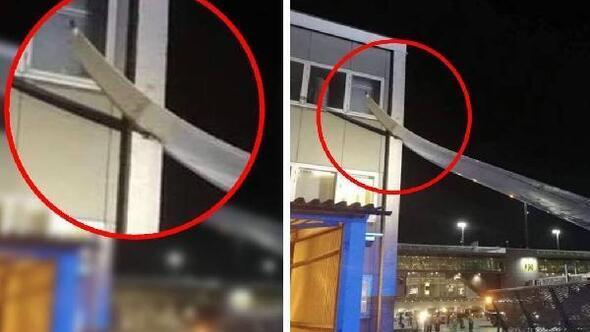 İsveç'te bir yolcu uçağı binaya çarptı