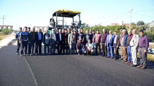 Serik- Sarıaba yoluna asfalt