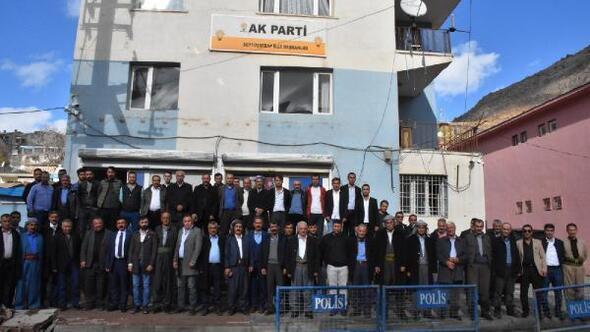 Beytüşşebap'ta aşiretlerden AK Partiye destek