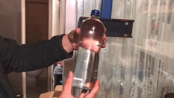 Trabzonda sahte içki operasyonu