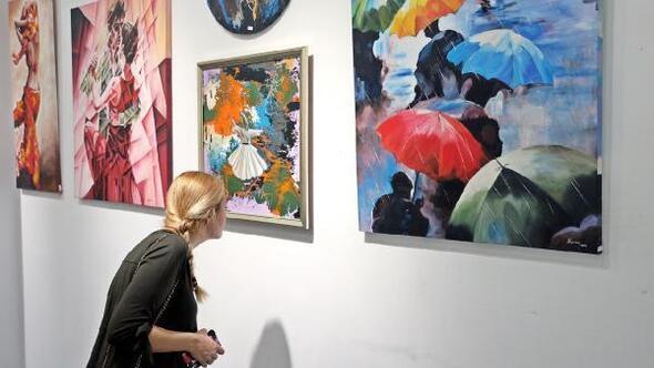 BUSMEK kursiyerlerinin resim sergisi görücüye çıktı