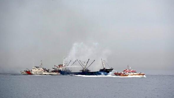 Gemi yangını tatbikatı bu kez önceden duyuruldu