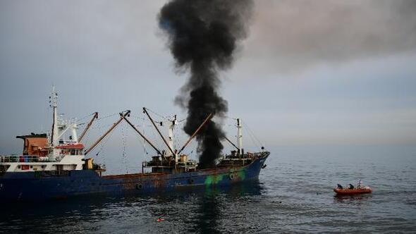Gemi yangını tatbikatı bu kez önceden duyuruldu/Ek fotoğraflar