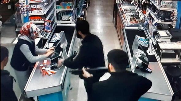 Pompalı tüfeklemarket soygunu