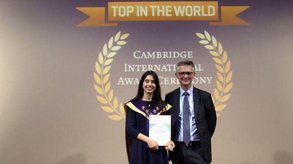 Işın, Cambridge Üniversitesi IGCSE sınavlarında 'Dünya Birinciliği' elde etti