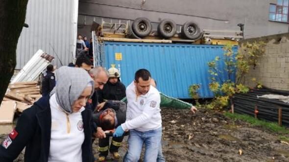 Mobilya fabrikasında konteyner faciası: 2 işçi öldü, 1 işçi ağır yaralandı