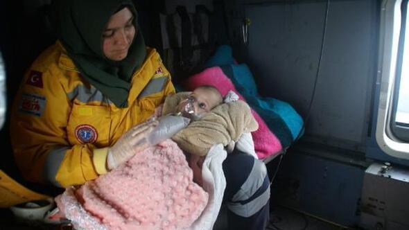 Deniz Kuvvetleri helikopteri Zehra bebek için havalandı - Ek fotoğraflar
