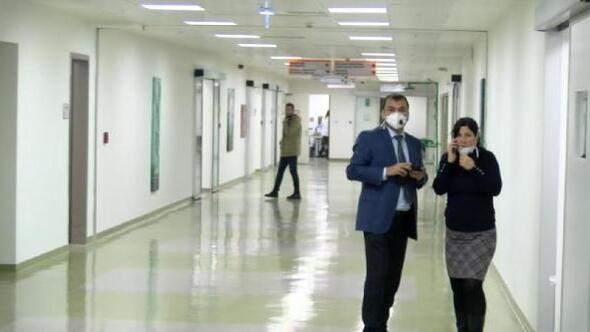 Hastanede personelin düşürdüğü asit şişesi kırıldı, panik yaşandı