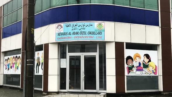 Irak Milli Eğitim Bakanlığı logolu tabela ile izinsiz okul açtılar