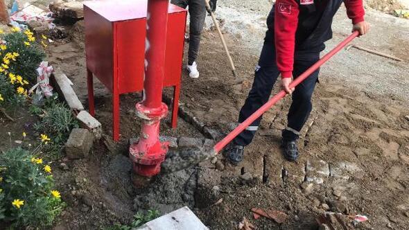 Ayvalıkta, yangınlara hidrant ve yangın dolaplı çözüm