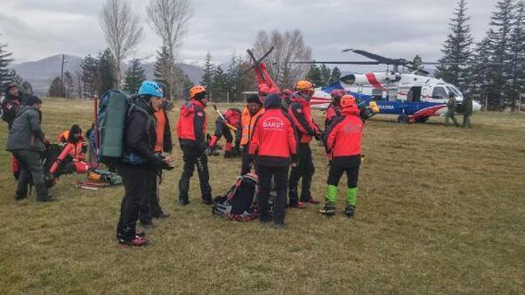 Niğdede çığ altında kalan dağcıyı arama çalışmaları tekrar başladı/ Ek fotoğraflar