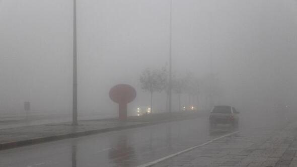 Gaziantepte yoğun sis hayatı olumsuz etkiledi