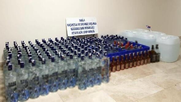 Fethiyede yeni yıl öncesi sahte içki operasyonu