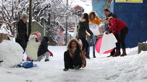 Adanalıların kar keyfi