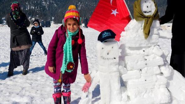 Aladağ'da kar festivali heyacanı
