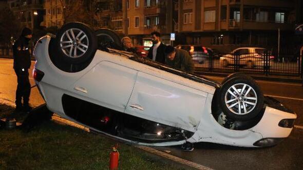 Takla atan otomobil sürücüsü, kayıplara karıştı
