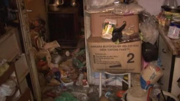 Çöp evde yaşam mücadelesi