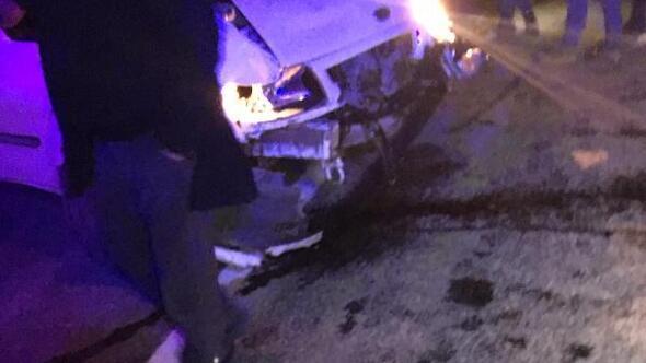 Tuncelide kaza: 5 yaralı