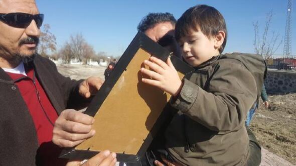 Minik Emirden kazada ölen polis babasına duygulandıran veda