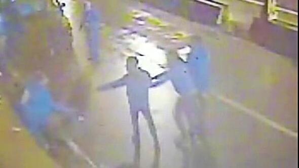 Kulüpte cinayet anı güvenlik kamerasında