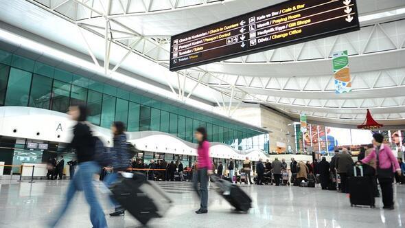29 bin 542 turist Havadan iniş yaptı