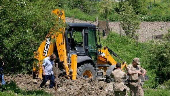 Ecrinin kaybolduğu evin yakınında kazı çalışmasına devam edildi