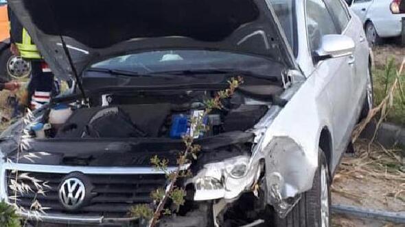 Sökede iki otomobil çarpıştı: 5 yaralı