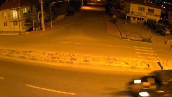Şehit babasının hayatını kaybettiği kaza kamerada