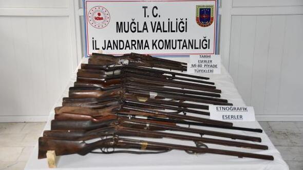 Muğlada tarihi tüfek operasyonu
