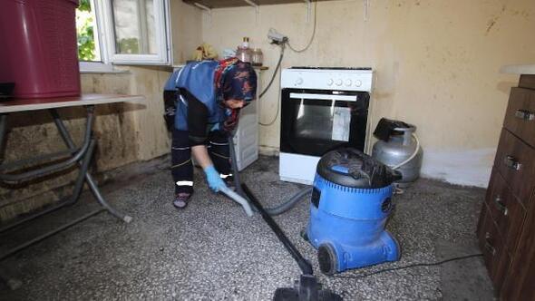 Hacılarda bakıma muhtaç ailelerin evleri temizleniyor
