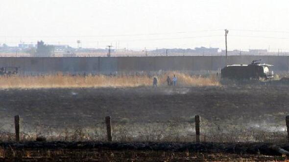 Mayınlı alanda çıkan yangına TOMAlı müdahale
