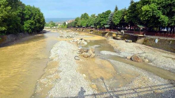 Kastamonuda sağanak hayatı olumsuz etkiledi, 8 büyükbaş sele kapıldı