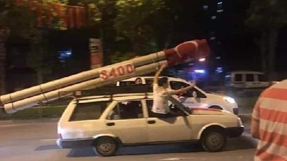Bursada S-400 maketli araç ilgi gördü
