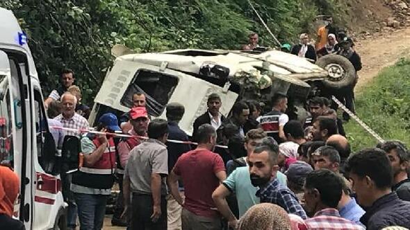 Giresunda 6 kişinin öldüğü kazada, şoför tutuklandı