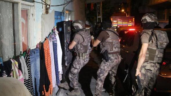 Ataşehirde helikopter destekli uyuşturucu operasyonu
