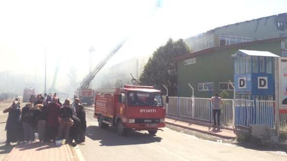 Beyşehirde silah fabrikasında yangın