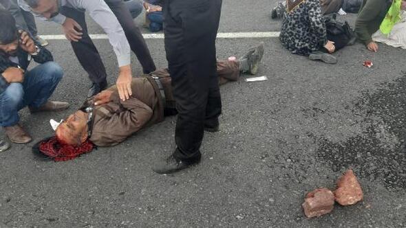 Şiddetli rüzgar, diyaliz hastalarının minibüsünü devirdi: 6 yaralı