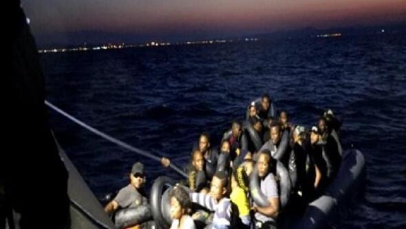 Balıkesirde 51 kaçak göçmen yakalandı