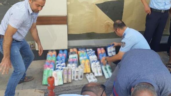 İzmirde sahte şampuan operasyonu