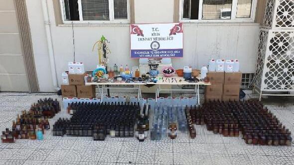 Kiliste 607 şişe kaçak içki ele geçirildi
