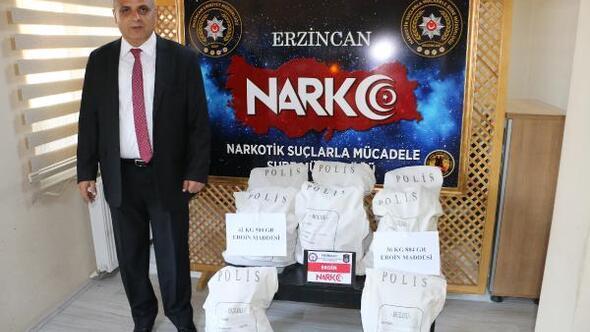 Erzincanda polis uyuşturucuya geçit vermiyor
