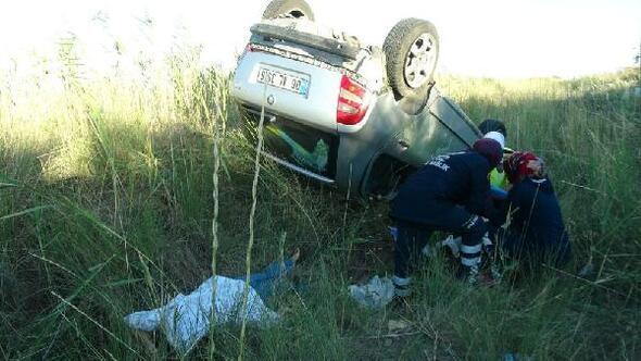 Bayram tatili yolunda kaza: 1 ölü, 4 yaralı