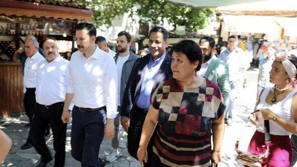 AK Partili Kayaya Şirince teşekkürü