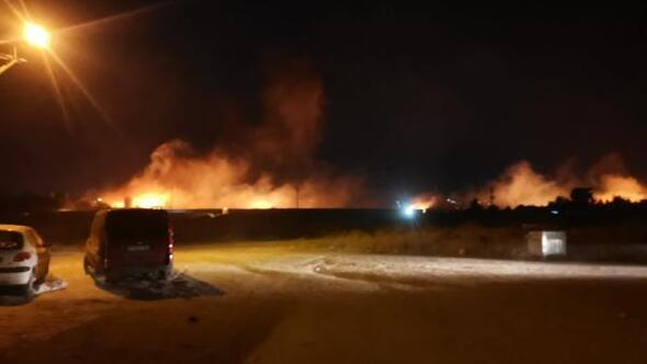 Nusaybinde eski gümrük kapısında yangın