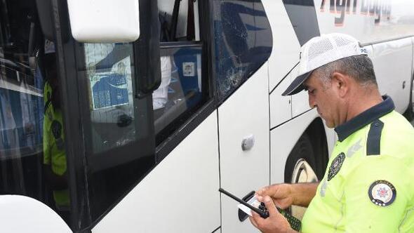 Kırıkkale polisinden otobüslerde takograf denetimi
