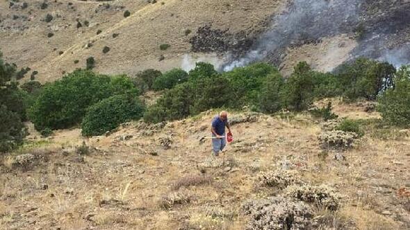 Bayburtta orman yangını