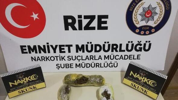 Rizede uyuşturucu operasyonu: 3 gözaltı