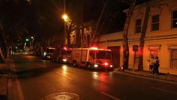 Galatasaray Üniversitesinde yangın paniği