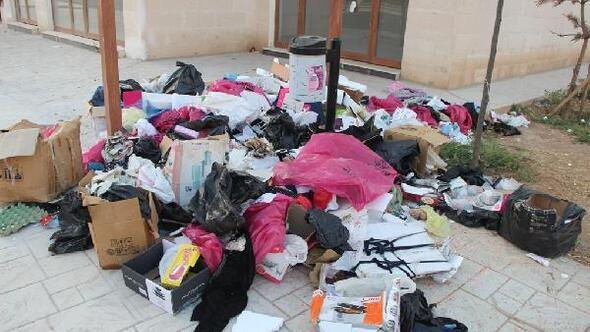 Nusaybinde HDPli belediyeye çöp toplamama tepkisi